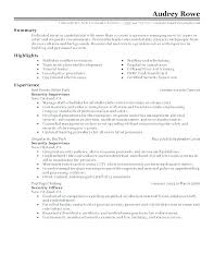 Sample Resume For Security Guard Security Resume Examples Examples Simple Resumes And Resume Security