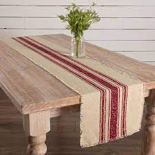 country chic stripe table runner