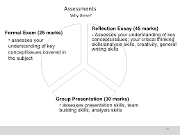 wk introduction handout ss 26 assessments why these reflection essay