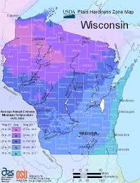 wisconsin planting zones usda map of wisconsin growing zones