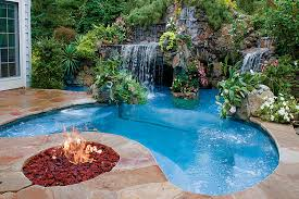 inground pools with waterfalls and hot tubs. Contemporary Waterfalls Inground Pool With Hot Tub Sunken Ideas Designs  Picture For Pools With Waterfalls And Tubs