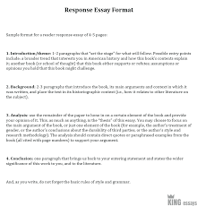 Example Of A Response Essay How To Write A Response Paper Guidelines With Examples