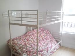 ... Charming Space Saving Shared Bedroom Decoration With Various Ikea White  Bunk Bed : Charming Shared Girl ...