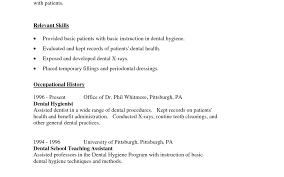 Dental Hygienist Resume Example