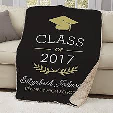 Personalized Graduation Throw Blankets