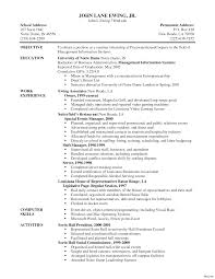 Server Resume Objective Restaurant Server Resume Sample For Study Objective Examples Acm 11