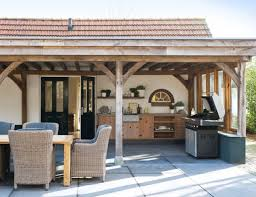 Stone gray outdoor kitchen design