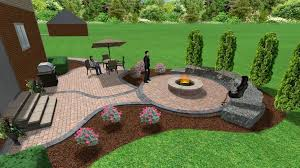 patio pavers with fire pit. Brick Paver Patio And Fire Pit | 3D Landscape Designs Pinterest Pavers With