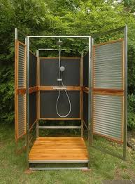 outdoor shower enclosure ideas fantastic showers for your garden