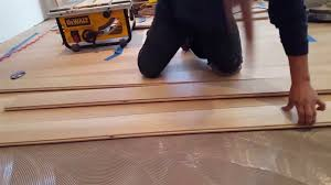 Concrete Wood Floor Gluing Wood Floors To Concrete Youtube