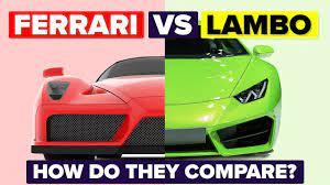 Ferrari Vs Lamborghini How Do They Compare And Which Is Better Automotive Car Comparison Youtube