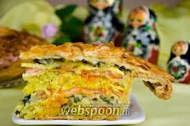 Кулебяка с рыбой рецепт с фото как приготовить на ru Кулебяка с рыбой и капустой