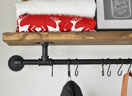 Coat Rack Shelf Diy DIY Industrial Coat Rack Beneath My Heart 76