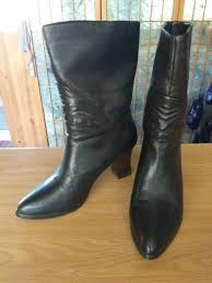 genuine soft black leather boots
