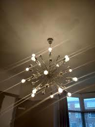 b q komet spherule chrome effect 20 lamp pendant ceiling light