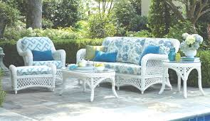 patio furniture white. Impressive White Wicker Patio Furniture With Ottoman And Printed Cushions U