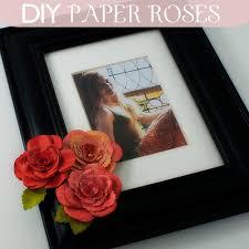 Paper Flower Frame Diy Paper Rose Embellished Frame