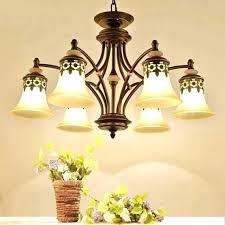 pendant style chandelier vintage light 6 heads parlor kitchen lighting walnut mission spanish
