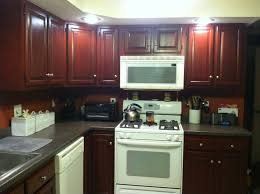 Cherry Cabinets In Kitchen Kitchen Color Ideas With Cherry Cabinets Wallpaper For All
