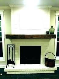 white wood fireplace mantel mantels shelves wooden shelf for with built in painting