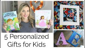 5 awesome personalized gifts for kids and a book giveaway