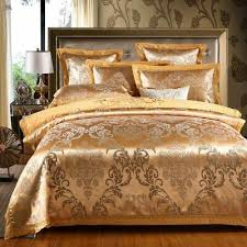 luxury sateen cotton gold duvet cover