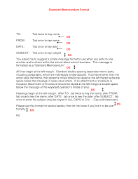 Best Photos Of Standard Memo Format - Standard Memo Format Example ...