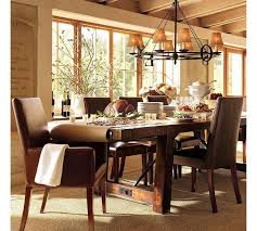 delightful asian inspired dining room design ideas with brown leather dining chairs and wooden dining table also chenille rug plus cone hanging l