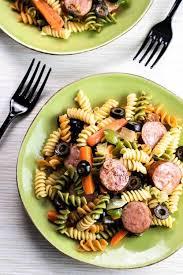smoked sausage pasta salad