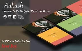 Wordpress Theme Now Available For Aakash Resume Portfolio Html