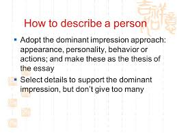 writing unit my role model period warm up  who is  4 how to describe a person  adopt the dominant impression