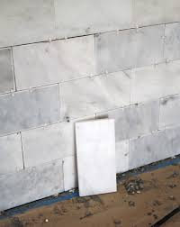 How To Grout Tile Backsplash Magnificent DIY Marble Subway Tile Backsplash Tips Tricks And What NOT To Do