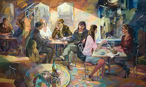 Галерея Арт Владивосток › Дальневосточная Государственная  Семенушкин П А Дипломная работа Кафе Вечернее настроение