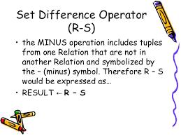 relational algebra symbols relational algebra in dbms