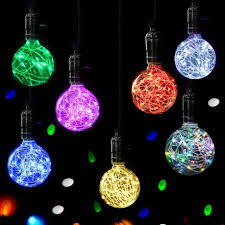 Light Blue Usps Us 2 2 12 Off Christmas Led Light Bulb E27 Starry Fairy String Xmas Party Lamp Bulb Home Decor 220v 3w 360 Degree With 20 Beads Fairy Usps In Led