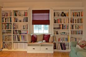 built in bookshelves with windowseat for under   ikea hackers