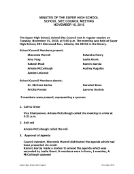 Format Of Writing Minutes A Meeting Pdf Template Examples