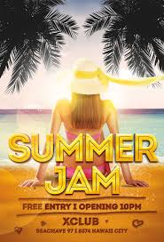 Download Summer Jam Flyer Template For Photoshop | Awesomeflyer.com