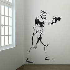 extra large storm trooper star wars life size wall art big mural sticker decal