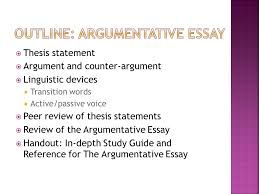 argumentative essay choo choo thesis statement ppt  outline argumentative essay