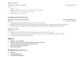 Resume Templates College Student Resume Templates For College
