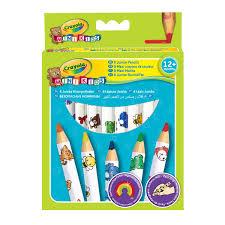 8 Maxi Crayons De Couleurs Mini Kids Crayola Pour Enfant De 1 An 6 Crayon De Couleur Set De Crayons De Couleur Princesse L