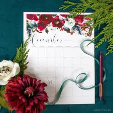 3d Paper Flower Calendar Free December 2019 Printable Calendar Lia Griffith