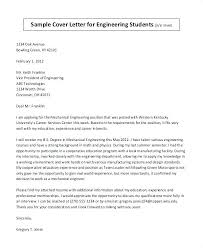 Resume Cover Letter Examples For Students Delectable Mechanical Engineer Cover Letter And Electro Mechanical Technician