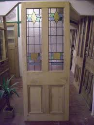 1930 s internal cedar door with gorgeous stained glass panel
