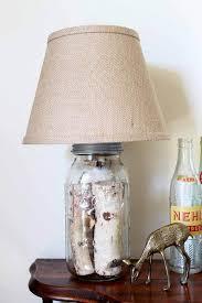 awesome mason jar log lamp