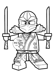 Green Ninja Coloring Pages For Kids