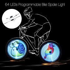 64 Đèn LED Xe Đạp Không Dây Vành Nan Hoa Đèn RGB Có Thể Lập Trình Đi Xe Đạp  Bánh Xe Đèn Xe Trang Trí YQ8002 Phụ Kiện Xe Đạp|lamp for bike