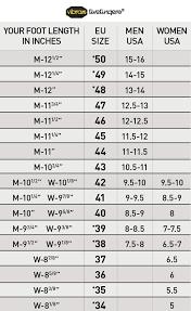 Vibram Size Chart Vibram Fivefingers Sizing Chart Vibram Five Finger Shoes