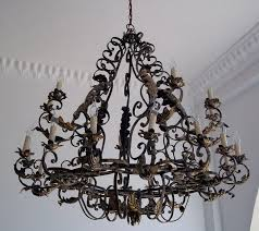 lighting marvelous rustic wrought iron chandelier 20 surprising 23 palace hall huge entry rustic wrought iron